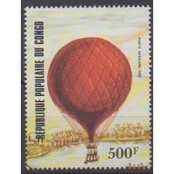 Congo (République du) - 1983 - No Timbre du BF34 - Ballons - Dirigeables