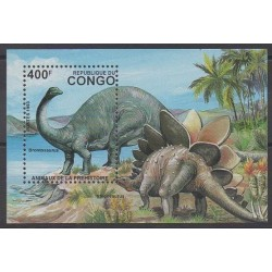 Congo (République du) - 1993 - No BF59C - Animaux préhistoriques
