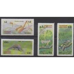 Bangladesh - 1991 - No 343/346 - Animaux - Espèces menacées - WWF