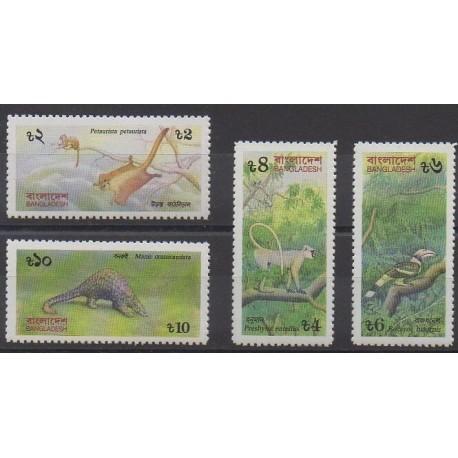 Bangladesh - 1991 - Nb 343/346 - Animals - Endangered species - WWF