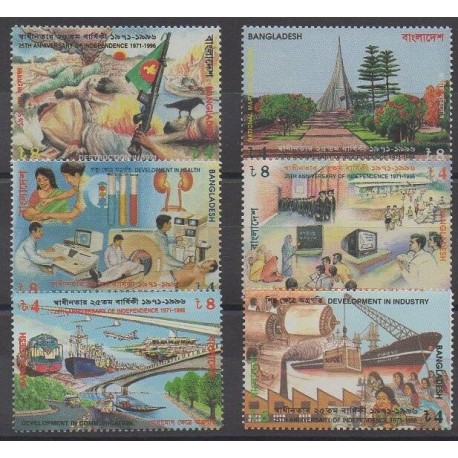 Bangladesh - 1996 - Nb 540/545 - Various Historics Themes