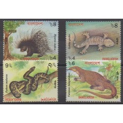 Bangladesh - 2000 - No 656/659 - Mammifères - Reptiles