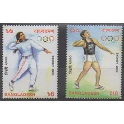 Bangladesh - 2000 - No 660/661 - Jeux Olympiques d'été