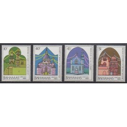 Bahamas - 1989 - Nb 695/698 - Christmas - Churches