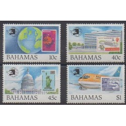 Bahamas - 1989 - Nb 699/702 - Stamps on stamps
