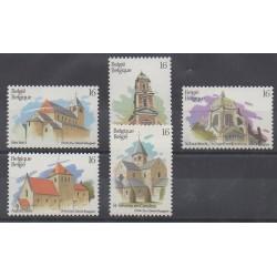 Belgique - 1994 - No 2555/2559 - Églises