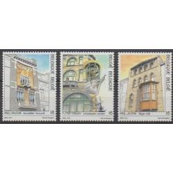 Belgium - 1995 - Nb 2604/2606 - Architecture
