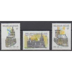 Belgium - 1997 - Nb 2712/2714 - Churches