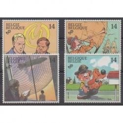 Belgium - 1991 - Nb 2428/2431 - Cartoons - Comics