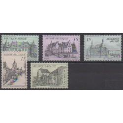 Belgium - 1993 - Nb 2512/2516 - Castles