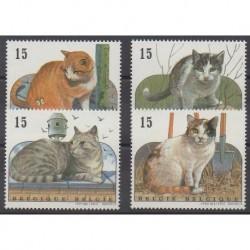 Belgium - 1993 - Nb 2521/2524 - Cats