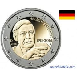 Allemagne - 2018 - Les 100 ans de la naissance d'Helmut Schmidt