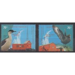 Argentine - 2001 - No 2232/2233 - Polaire - Oiseaux
