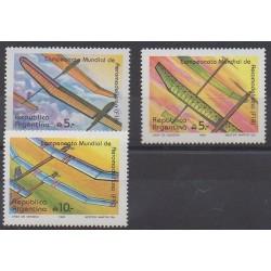 Argentina - 1989 - Nb 1672/1674 - Planes