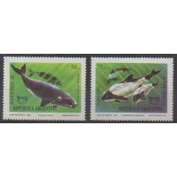 Argentine - 1993 - No 1831/1832 - Vie marine - Mammifères