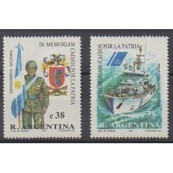 Argentine - 1993 - No 1815/1816 - Histoire militaire