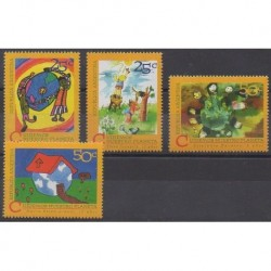 Argentina - 1994 - Nb 1863/1866 - Environment - Children's drawings
