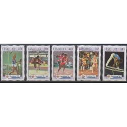 Lesotho - 1992 - No 1032/1036 - Jeux Olympiques d'été