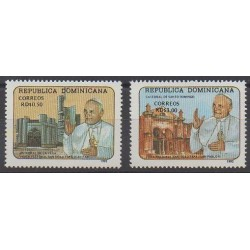Dominican (Republic) - 1992 - Nb 1094/1095 - Pope