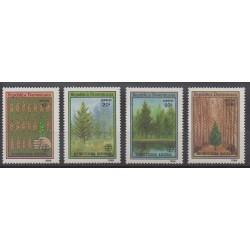 Dominican (Republic) - 1989 - Nb 1067/1070 - Trees