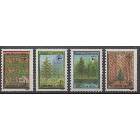 Dominicaine (République) - 1989 - No 1067/1070 - Arbres