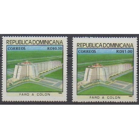 Dominicaine (République) - 1992 - No 1103/1104 - Monuments