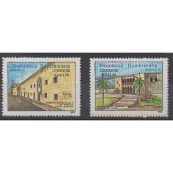 Dominican (Republic) - 1992 - Nb 1101/1102 - Monuments