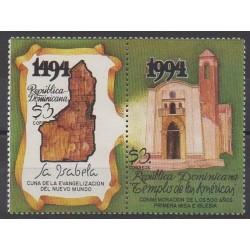 Dominican (Republic) - 1994 - Nb 1154/1155 - Churches