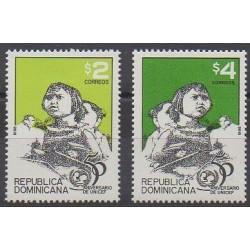 Dominican (Republic) - 1996 - Nb 1201/1202 - Childhood