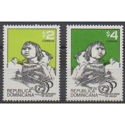 Dominicaine (République) - 1996 - No 1201/1202 - Enfance