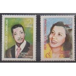 Dominican (Republic) - 1995 - Nb 1187/1188 - Celebrities