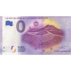 Euro banknote memory - 63 - Le-Puy-de-Dôme et la chaîne des puys - 2020-5
