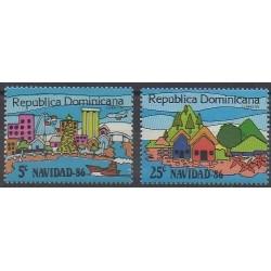 Dominican (Republic) - 1986 - Nb 1005E/1005F - Christmas