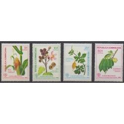 Dominican (Republic) - 1986 - Nb 1005A/1005D - Flora