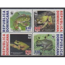 Dominican (Republic) - 2011 - Nb 1648/1651 - Animals - Endangered species - WWF