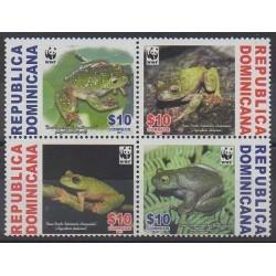 Dominicaine (République) - 2011 - No 1648/1651 - Animaux - Espèces menacées - WWF
