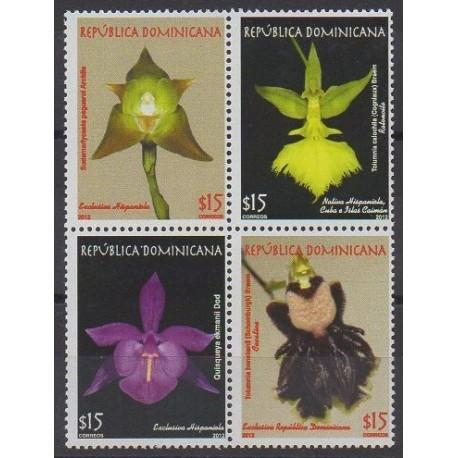 Dominicaine (République) - 2012 - No 1722/1725 - Orchidées