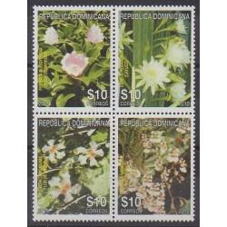 Dominicaine (République) - 2011 - No 1639/1642 - Fleurs
