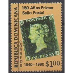 Dominican (Republic) - 1990 - Nb 1081 - Stamps on stamps