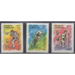 Dominicaine (République) - 1991 - No 1085/1087 - Sports divers