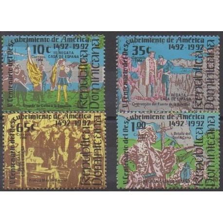 Dominicaine (République) - 1984 - No 937/940 - Christophe Colomb