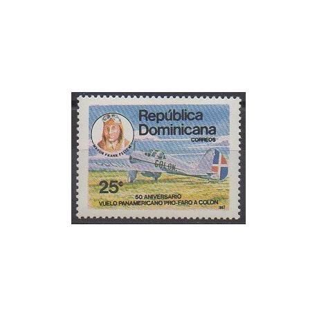 Dominicaine (République) - 1987 - No 1030 - Aviation