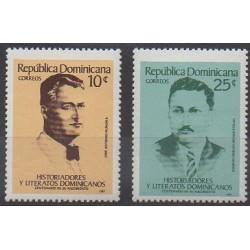 Dominicaine (République) - 1987 - No 1020/1021 - Littérature