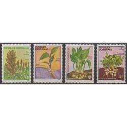 Dominican (Republic) - 1987 - Nb 1010/1013 - Flora
