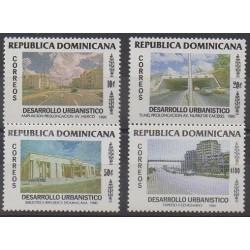 Dominican (Republic) - 1990 - Nb 1071/1074 - Architecture