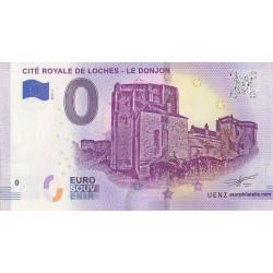 Euro banknote memory - 37 - Cité Royale de Loches - Le donjon - 2019-2