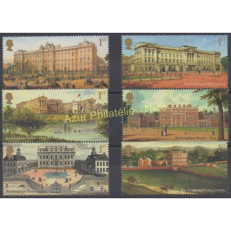 Grande-Bretagne - 2014 - No 3994/3999 - Monuments