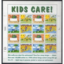 États-Unis - 1995- No F2328/2331 - Dessins d'enfants