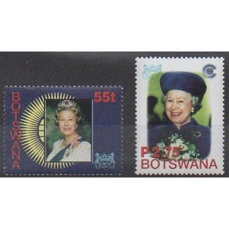Botswana - 2002 - No 876/877 - Royauté - Principauté