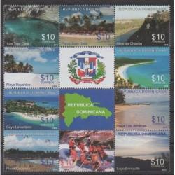 Dominican (Republic) - 2010 - Nb 1611/1620 - Tourism